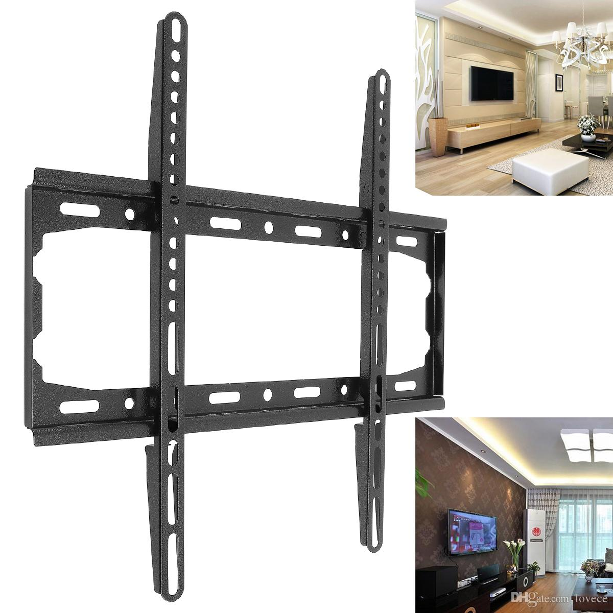 universal 45kg tv wall mount bracket fixed flat panel tv frame for 26 55 inch lcd led monitor flat panel hmp 60h rh dhgate com