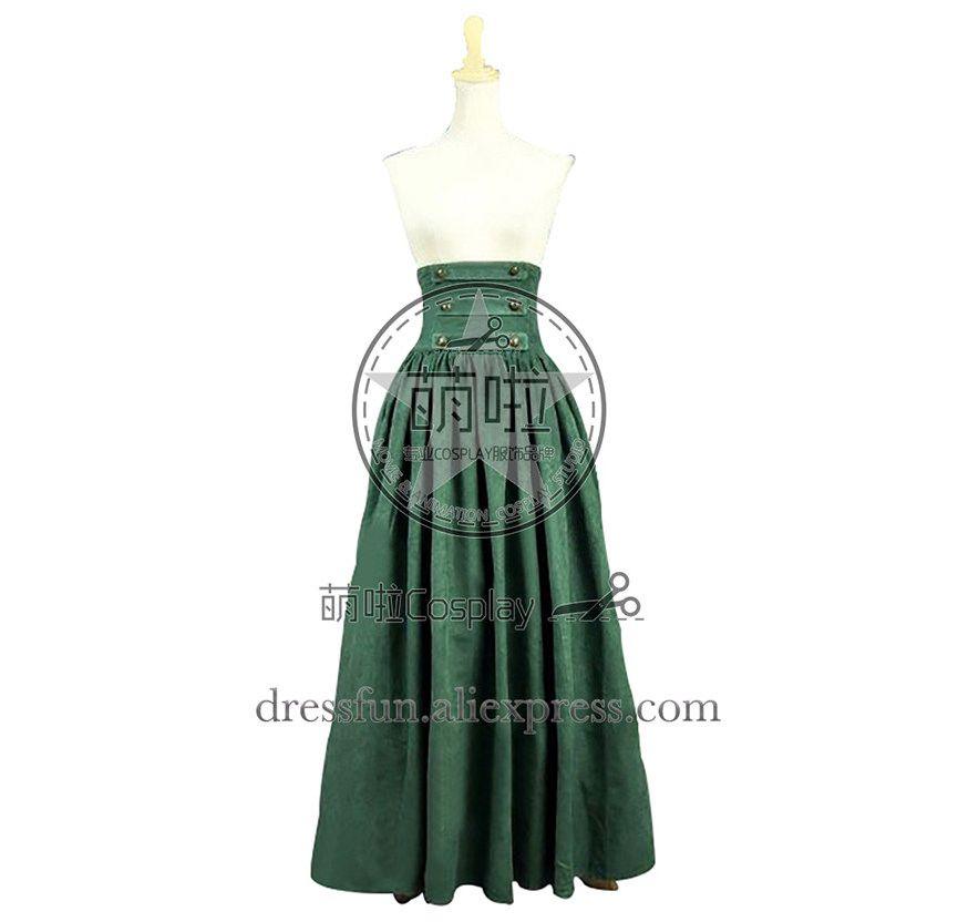 Victorian Lolita Edwardian Reenactment Skirt Gothic Lolita Dress Green  Dress Beautiful for Party Fast Shipping Halloween