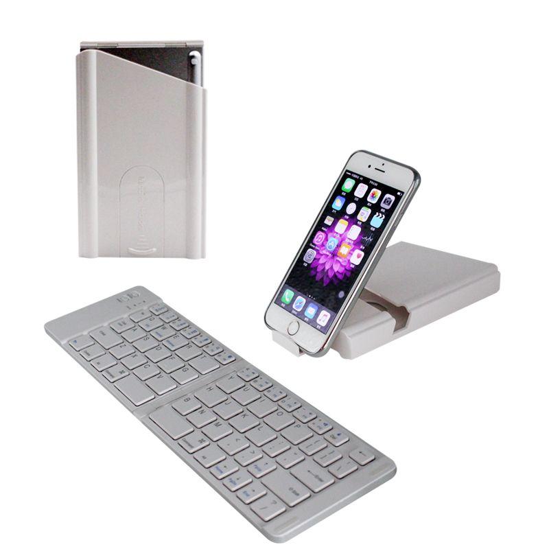 b46f5fad882 Ultra Slim Mini Wireless Foldable Bluetooth Keyboard For IOS / Android /  Windows, IPad Mini, IPad Pro, IPhone, Other Smartphones Washable Keyboard  ...