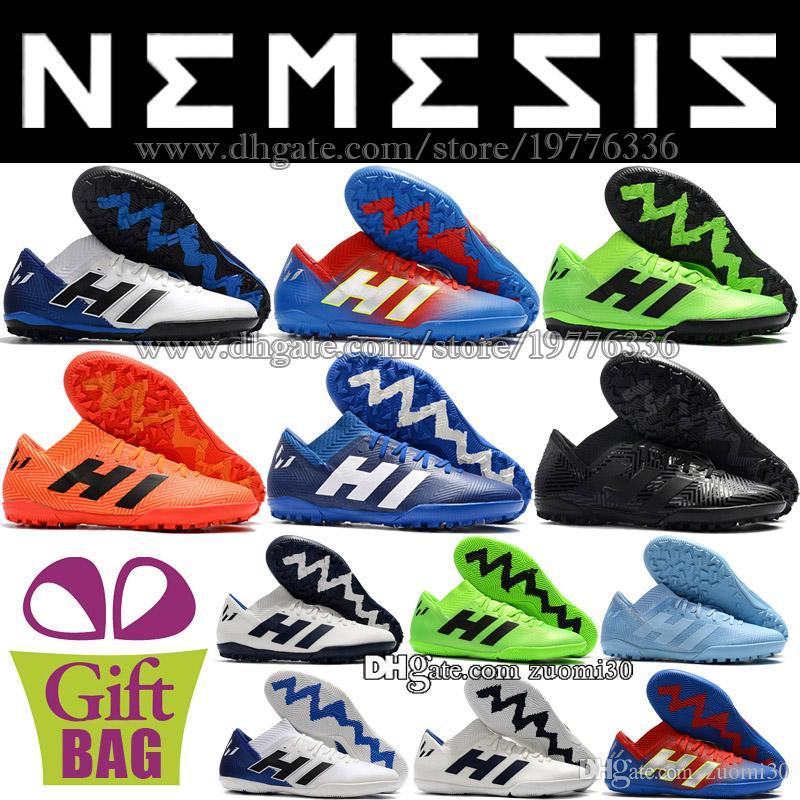 2019 New Original Low Soccer Shoes For Mens Nemeziz Messi Tango 18.3 IN TF Football  Boots Indoor Soccer Cleats Turf Leather Football Shoes 39 46 From ... 7e4f689d9f2