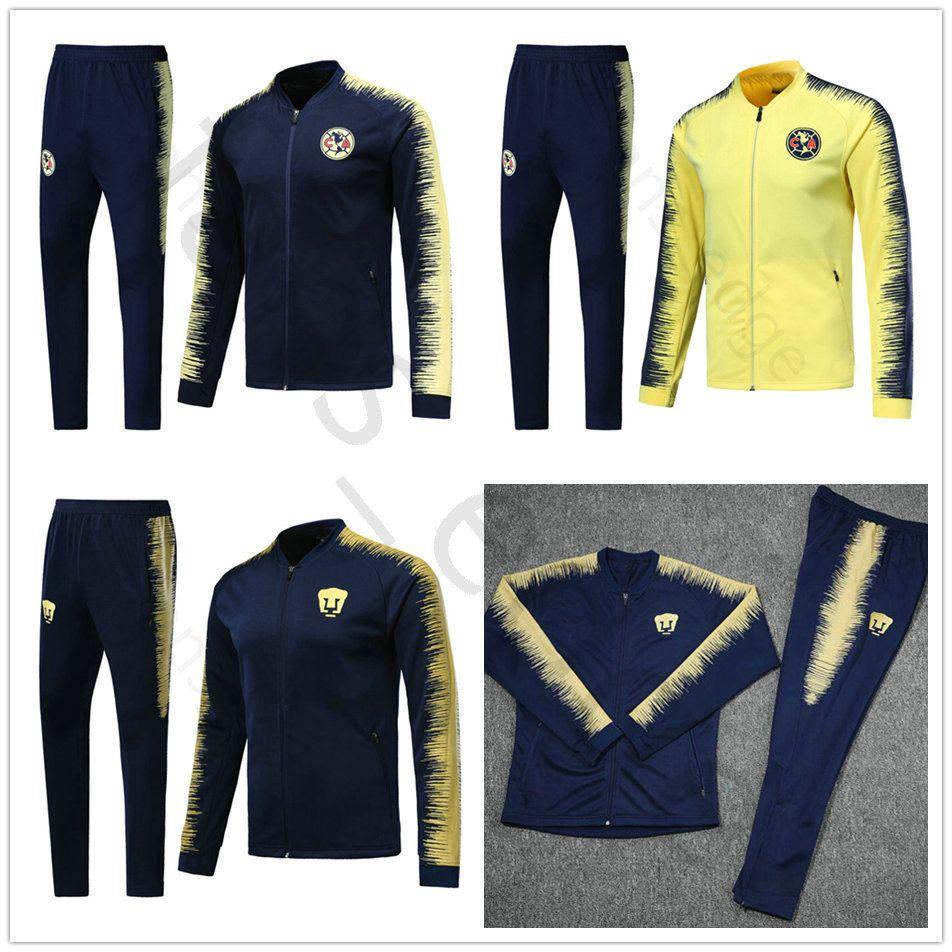 999e7bd9d 2019 18 19 LIGA MX Club America Home Away Soccer Tracksuit Set Kit Mexican  League Club UNAM Football Jacket Training Suit Survetement Chandal From  Chen shop ...