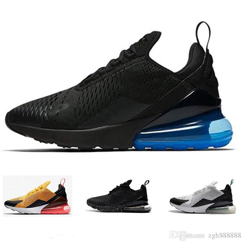 new concept 7ff9c 42a6e Acheter Nike Air Max 270 Sneakers En Gros 2018 Haute Qualité Hommes Femmes  Triple Noir 270 AH8050 Formateur Chaussures Flair Casual Chaussure  Extérieure ...