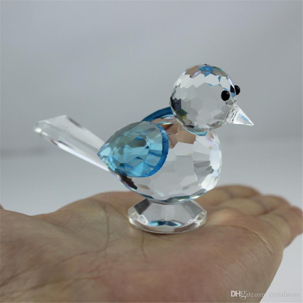 Crystal Glass Animal Pie Bird Statue Figurines Handmade Christmas Wedding Sale Home Decoration Art Crafts Ornaments