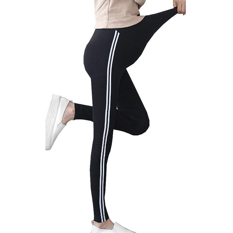 3fcf02be2f 2019 Maternity Knitted Leggings For Pregnant Women Pants Side Striped  Sideseam Sweatpants Leggings Comfy Leisure Pregnancy Pants From Bdshop