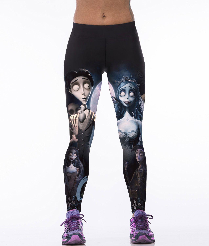 d6dedd70bd2cb2 2019 Wholesale New Arrival 2018 3D Printed Cartoon Pattern Fashion Women  Mid Elastic Leggings Fitness Sexy Pants WAI BO BEAR From Casualsport, ...
