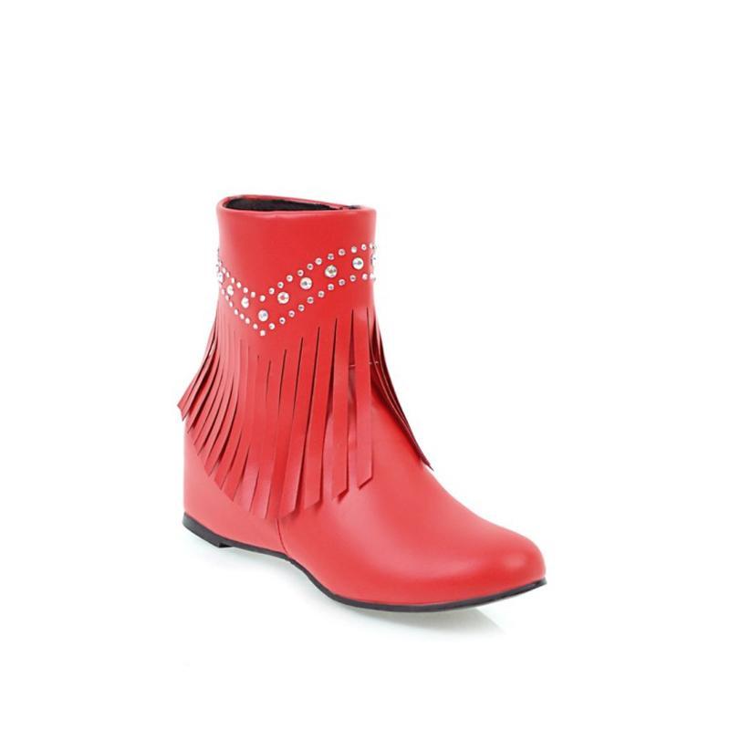 A De Damas Del 2018 35 21 Zapatos Otoño Primavera Mujer Fiesta Botines De Botas Zapatos Compre Lluvia Botas Mujer Rojos Tamaño De Más 43 De De Invierno 17 SxBqOwUn