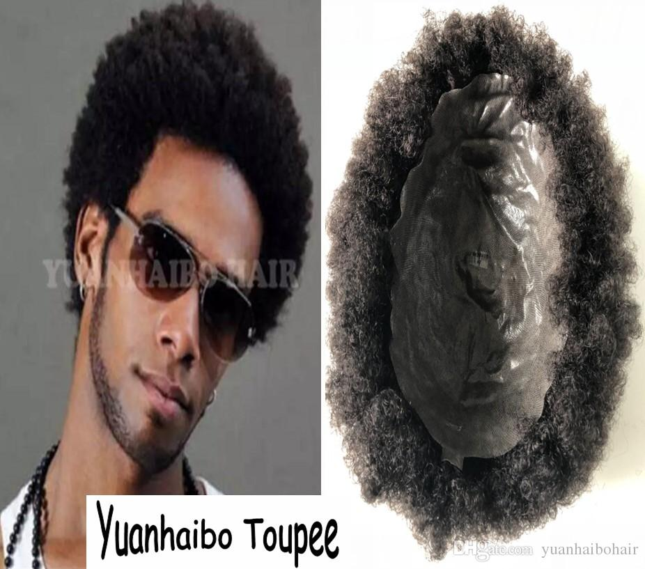 Full PU Afro Toupee Top Selling Black Hair Unprocessed Chinese Human Hair  Afro Kinky Curl Skin Toupee For Black Men ! UK 2019 From Yuanhaibohair b4c1f9ec0