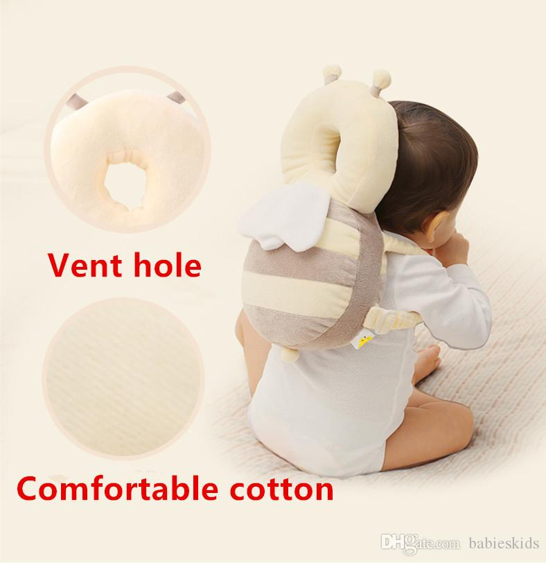 Cute Pillow Newborn Infant Baby Fall Prevention Cushion Pillow Child Head Anti-collision Mat For Baby Head Back Protection