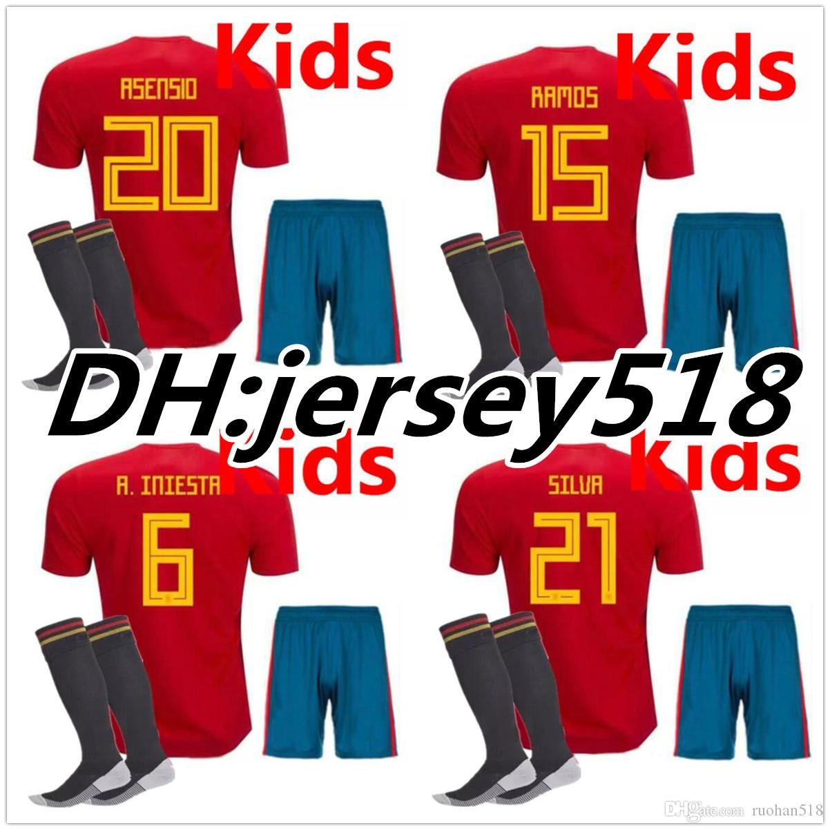 spain 3 gerard pique white away youth kids child 2016 2017 country national  team soccer jerseys 95594b146