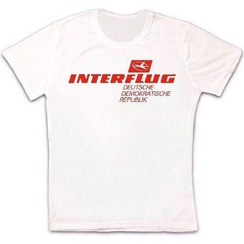 fa36c7e651e INTERFLUG DDR National Airline Of East Germany Retro Hipster Unisex T Shirt  842 O Neck Fashion Printed Mens Cotton T Shirt Tee S It T Shirts From ...