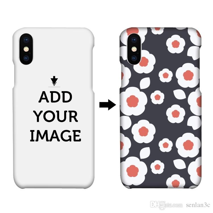 Make Your Own Design 3d sublimation custom printing pc back cover hard phone case for iphone x 7 8 Plus 6s Plus