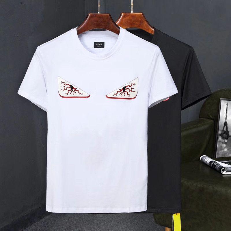 452231adcd08 Acheter Mode Marque Coton Femmes Hommes T Shirt Mignon Sang Yeux Imprimer  Top Qualité Casual Streetwear T Shirt De Luxe Mince À Manches Courtes T  Shirts De ...