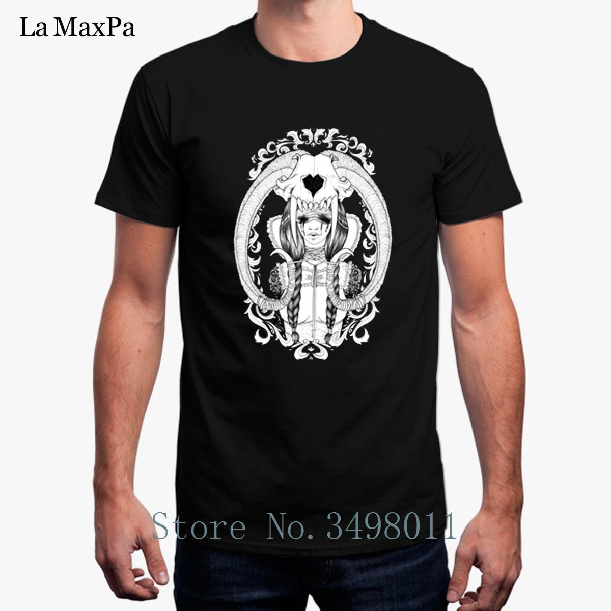 Tshirt For Men Tears Skull And A Broken Heart Solid Color Mens T