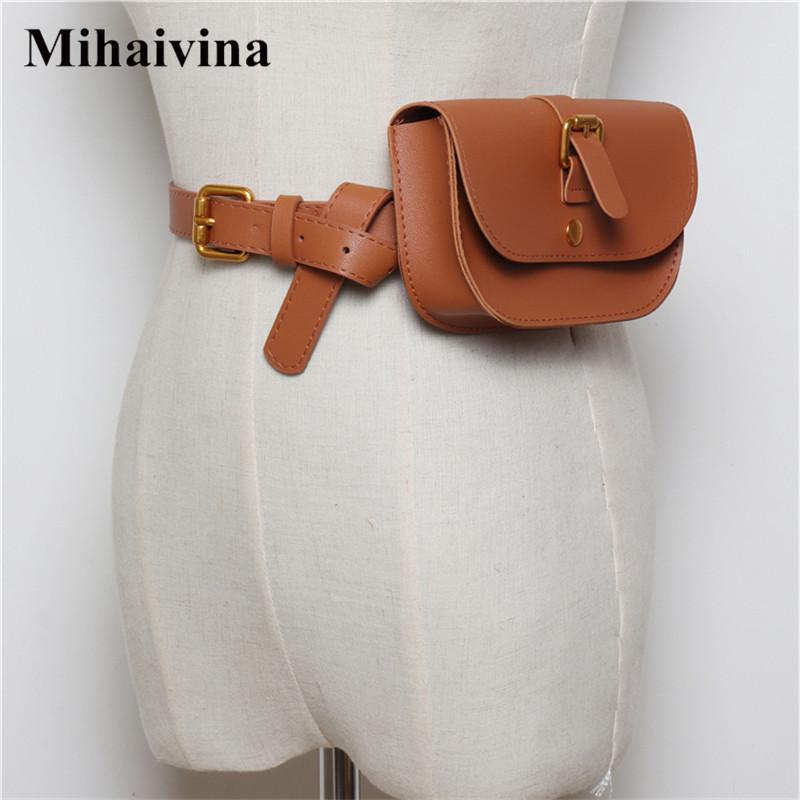 392665228a0c Mihaivina Simple Women Waist Bag Belt Fashion Luxury Fanny Pack Small Lady  Waist Pack Phone Pouch Belt Bags Purse Bum Chest Bag