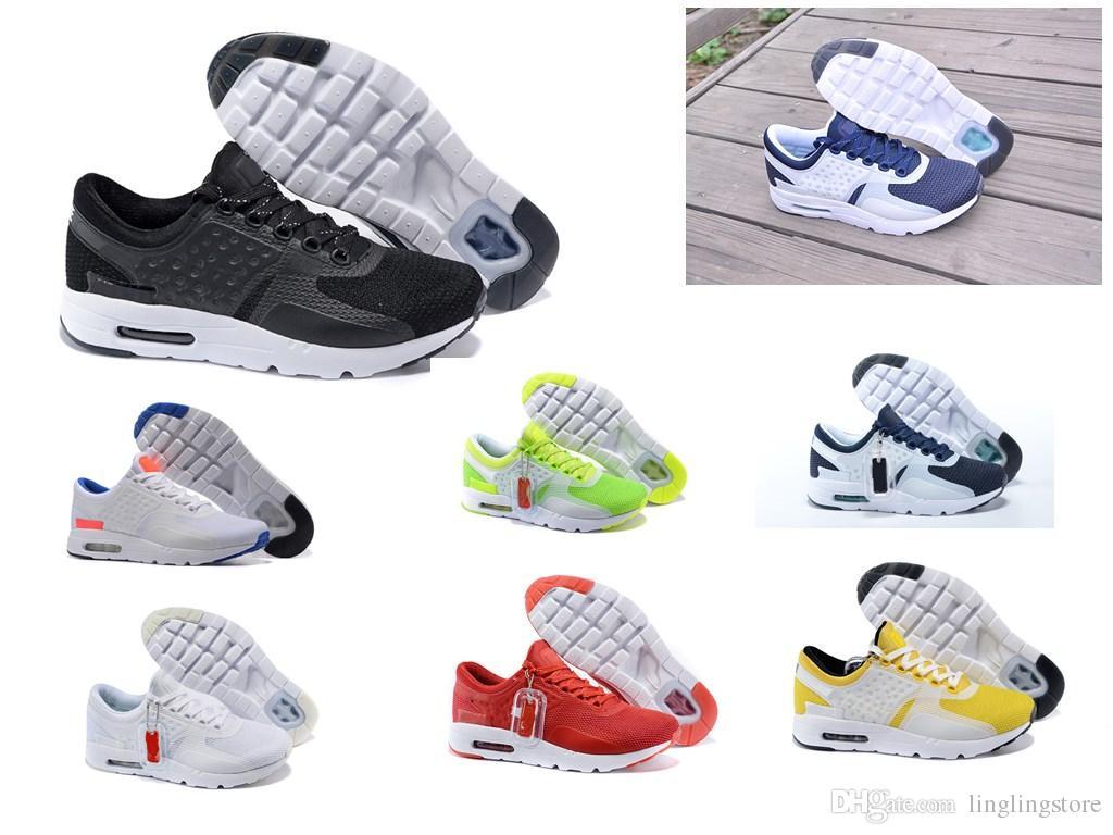 Nike Air Max Zero Essential 87 Atacado Zero 87 2 Tênis Para Mulheres Dos Homens, Qualidade Superior Respirável Esporte Ao Ar Livre Tênis Tamanho 36 44