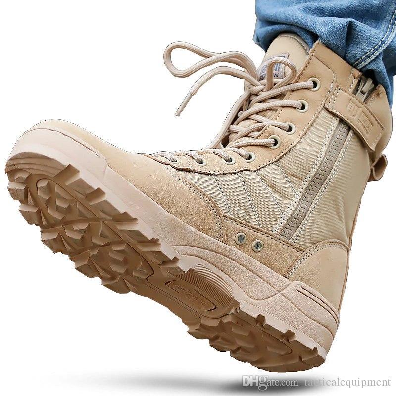9fe53e0ad8 Compre Botas Táticas Para Os Homens Deserto Botas De Combate Ao Ar Livre  Sapatos Ao Ar Livre Respirável Wearable Botas Tênis Para Caminhada EUR  Pequeno ...