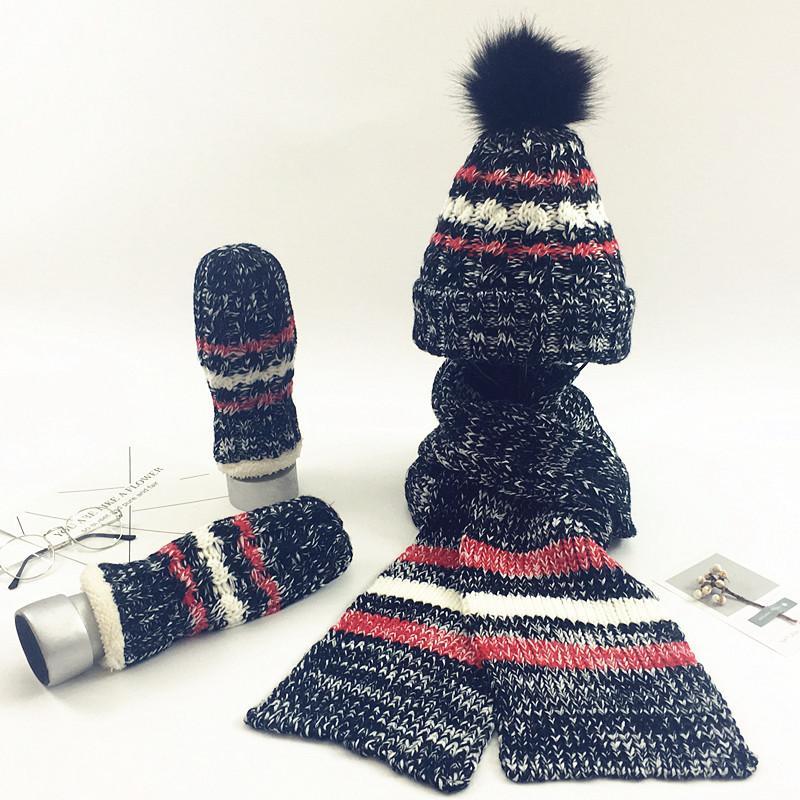 Winter Warm Crochet Women s Hat Caps Knitted Wool Hat Scarf For ... 6b11fbd999b