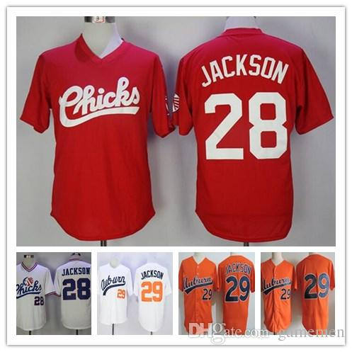 Auburn Tigers  29 Bo Jackson College Baseball Jerseys Orange White Vintage  1986 Retro Memphis Chicks  28 Red Stitched Jersey Baseball Jersey Online  with ... 4e3c0e5df