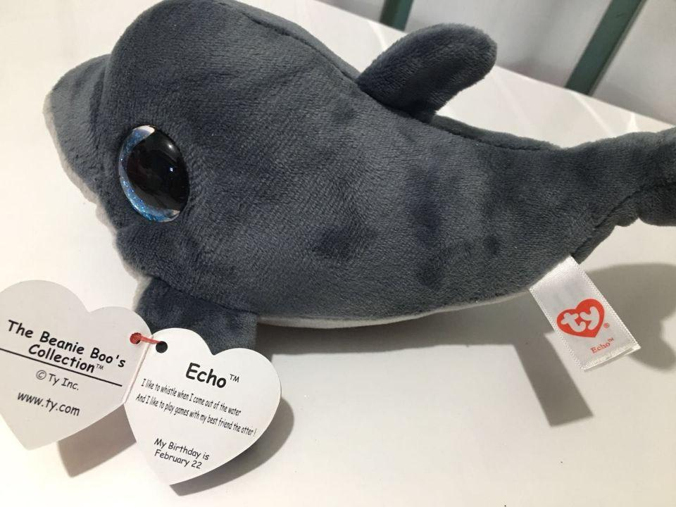 f57e26ede79 2019 ECHO Dolphin With Tag And Label TY BEANIE BOOS 15CM Plush Toys Stuffed  Animals KIDS TOYS VALENTINE GIFT From Benedicty