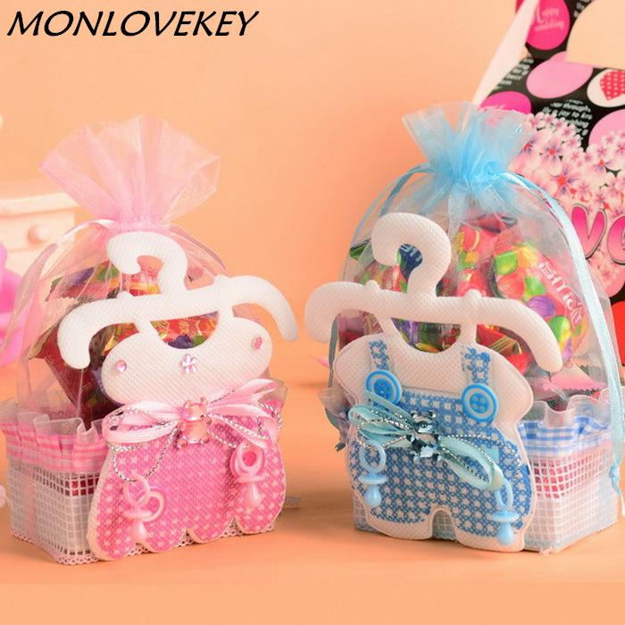 New Baby Shower Favor Bags Gifts Candy Box Children Skirt Candy Bag