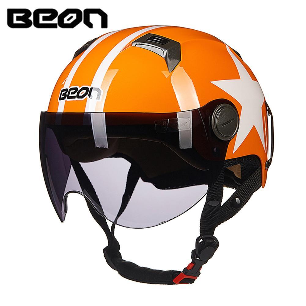 Beon Scooter Motorcycle Half Helmet Face Vintage Helmet Moto Casque