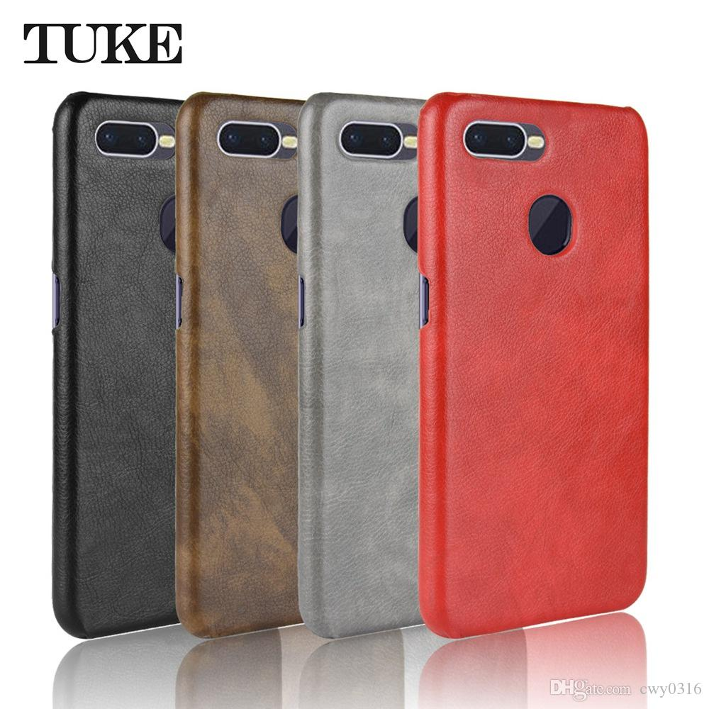 pretty nice ce9ef e1d09 TUKE For Oppo F9 Pro Case Luxury Leather Hard PC Cover For Oppo F9 CPH1881  CPH1823 CPH1825 Phone Case For Oppo F9 OPPOF9 Skin