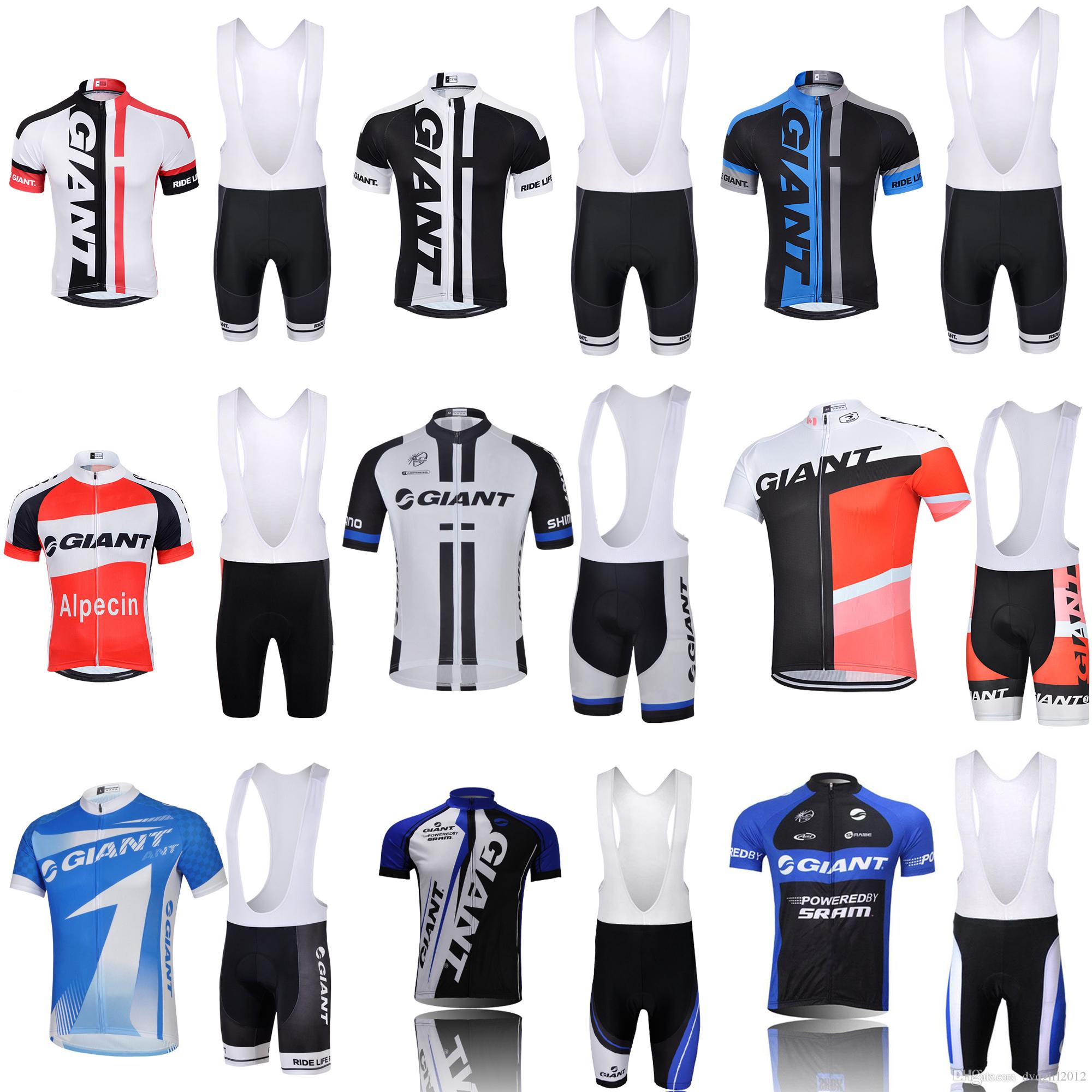 9e30892ff Giant Cycling Jersey Pro Team Short Sleeve Bicycle Clothing Bike ...