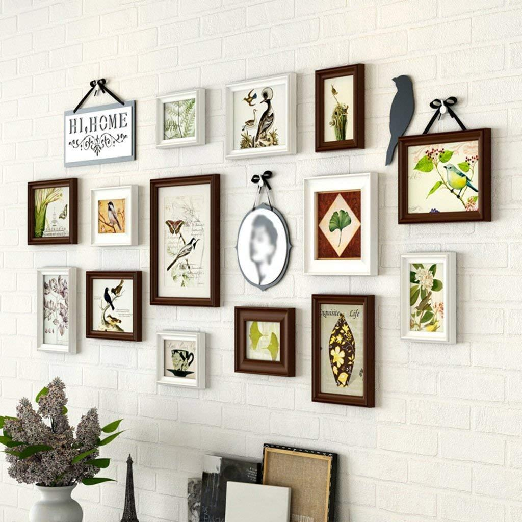 14 Photo Frame Wall Gallery Kit Includes: Frames,Hanging Wall ...