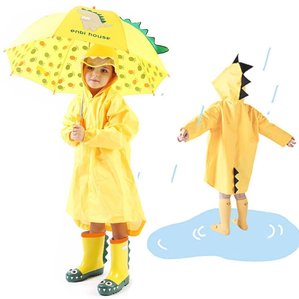5aeeedffbb8a5 MUQGEW 2018 Hot Sale Kids Boy Girl Raincoat Rain Jacket Dinosaur  Lightweight Rainwear Rain Slicker Dropshipping Baby Clothes Trench Coat  Jacket Ladies ...