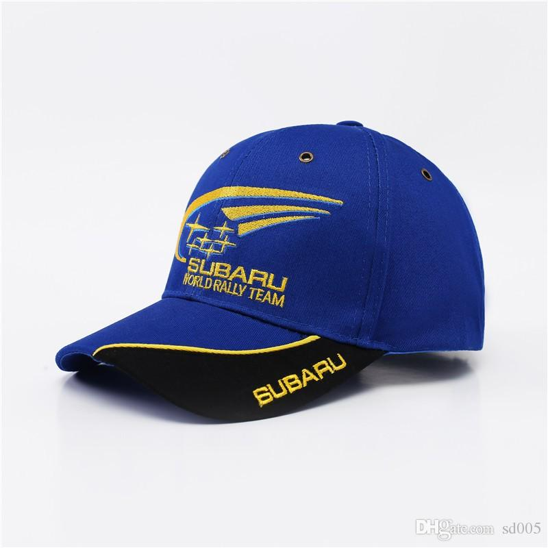 Subaru World Rally Team Cap Outdoor Motorcycle Off Road Racing Baseball Hat  Embroidery Adjustable Dome Snapbacks Men Women 12qj BB Cap Store Custom  Fitted ... 9f84c0fc6f3