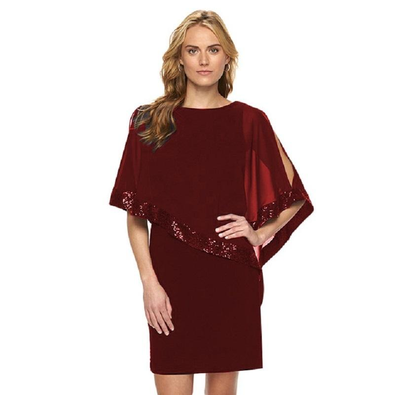 3956f4242d1 2019 3XL Plus Size Women Spring Summer Dress Fashion Ruffle Sequins Cover  Sleeve Slim Pencil Dresses Party Work Office Dress Vestidos Y1891104 From  ...