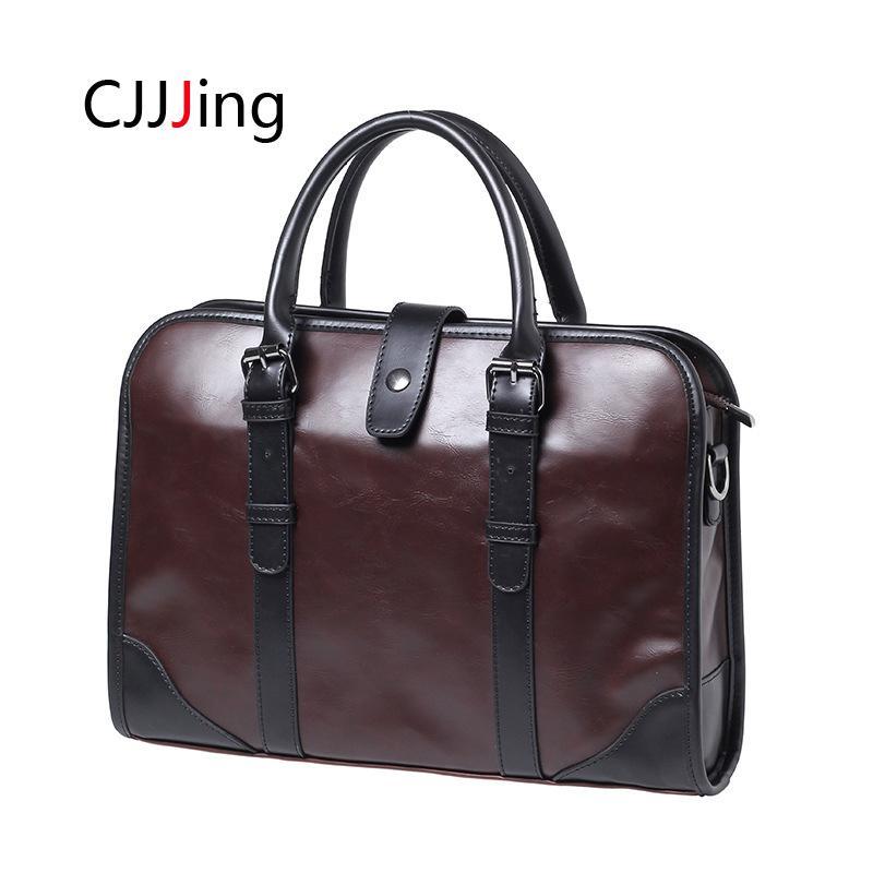 Men S Briefcase Handbag Shoulder Bag Men Office Business Handbags