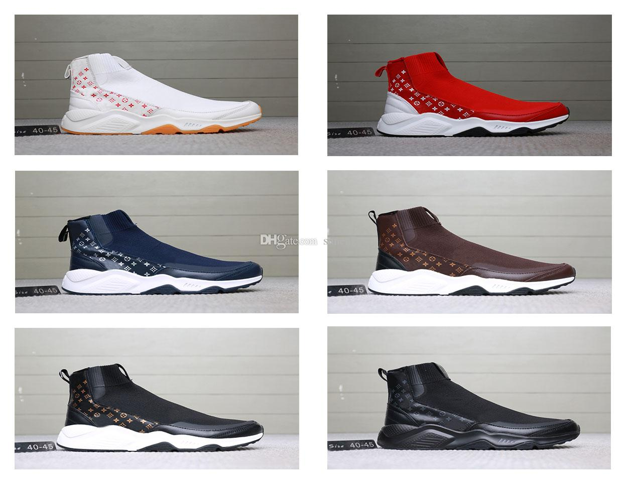 61f8818fb12 Compre Nike Luxury Brand Shoes Louis Vuitton LV Ultra Zapatos De Hombre  Triples Blanco Negro Zapatos De Diseñador Rojo Gris Huaraches Mens Shoes  Original ...