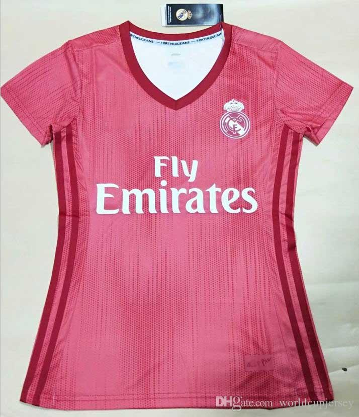 019d8405a Top Thai 18 19 Women Real Madrid Home Soccer Jersey 2018 Lady NAVAS ...