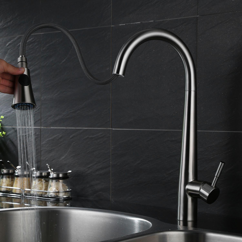 2019 304 Stainless Steel Kitchen Faucet European Draw Sink Sink