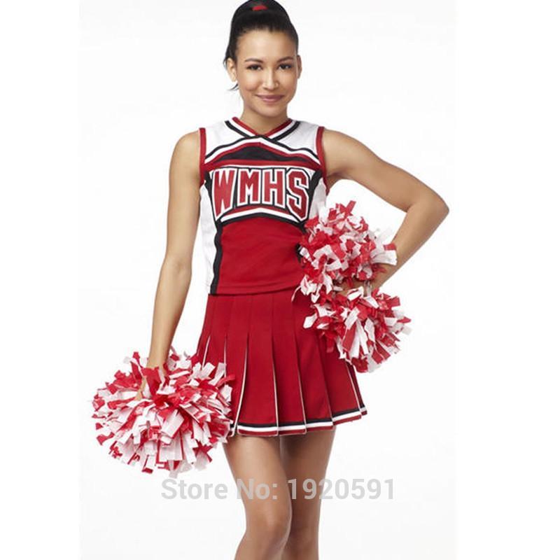2d6d12593c 2019 High School Glee Club Girl Cheerleader Costume Glee Style Cheerleading  Varsity Cheerleader Cheerios Costume Fancy Dress Uniform Sexy From  Carawayo