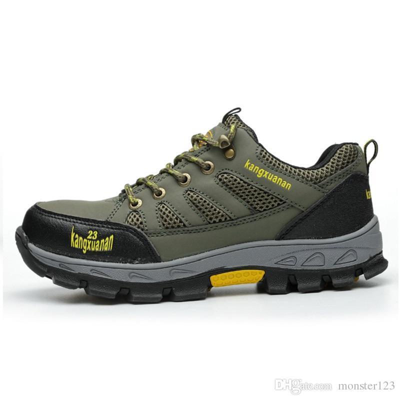 95da19b4e2 Compre Zapatos De Seguridad De Trabajo De La Tapa De Acero Respirable De  Los Hombres Zapatos De Seguridad De La Construcción De La Puntería De Acero  Al Aire ...