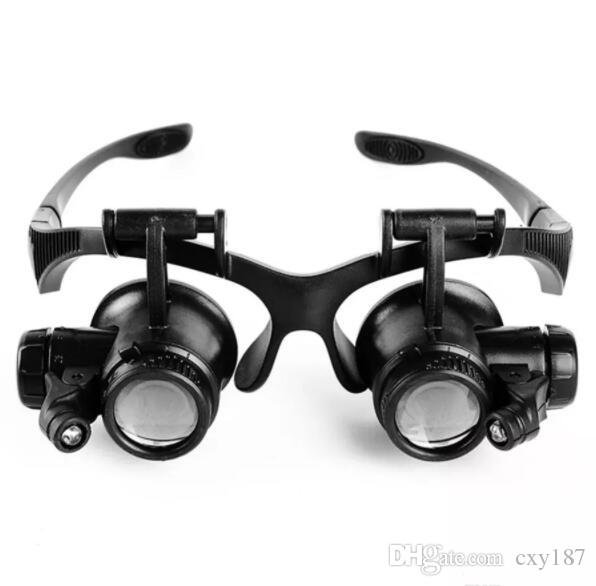 0d0e227a2082 Glasses Type Magnifying Glass 10X 15X 20X 25X Eye Jewelry Watch Repair  Magnifier Glasses With 2 LED Lights New Loupe Microscope Mirror Sunglasses  Boots ...