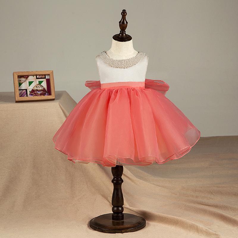 034a4550b27 Compre Lindo 1 Año De Cumpleaños Vestidos De Niña Para El Bautizo Con  Cuentas Bebé Princesa Bow Vestido De Bautizo Recién Nacido Niño Bebes Ropa  A  52.58 ...