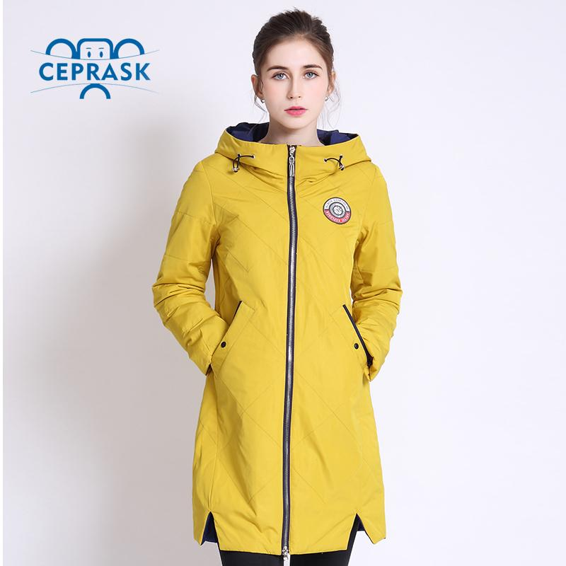 3563beb72 Wholesale- 2017 Thin Women Quilted Parkas Long Women Cotton Padded Jacket  Spring Windproof Womens Spring Jackets Coats New Design CEPRASK
