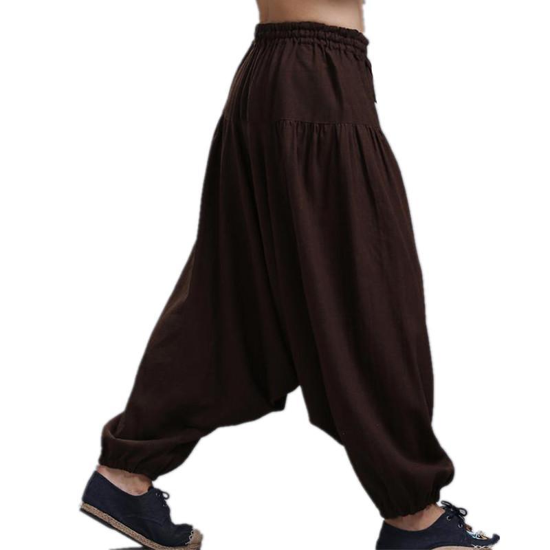 Acheter Pantalon Coupe Croisée Pour Homme, Pantalon À Jambes Larges Dansant Sarouel  Pantalon Jupe Pantalon, Pantalon Sarouel, 16 Couleurs Plus Taille M 5XL