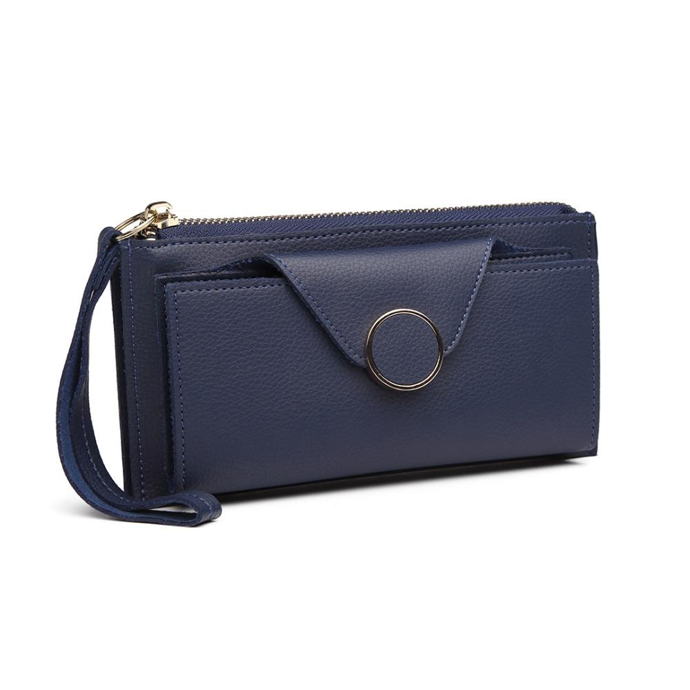 7a14a2a472 Miss Lulu Women Wallet Purse Fashion Clutch Hand Bag PU Leather Plain Color  Long Organized Coin Money Bags Card Holder LN6884 Ladies Wallets Best  Wallets ...