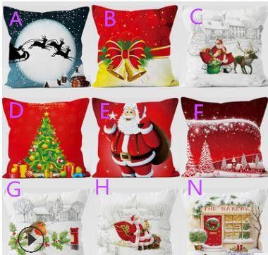 2018 on sale christmas tree comfortable sofa festival pillow case cushion cover christmas outdoor decorations cheap christmas outdoor decorations on sale - Christmas Outdoor Pillows