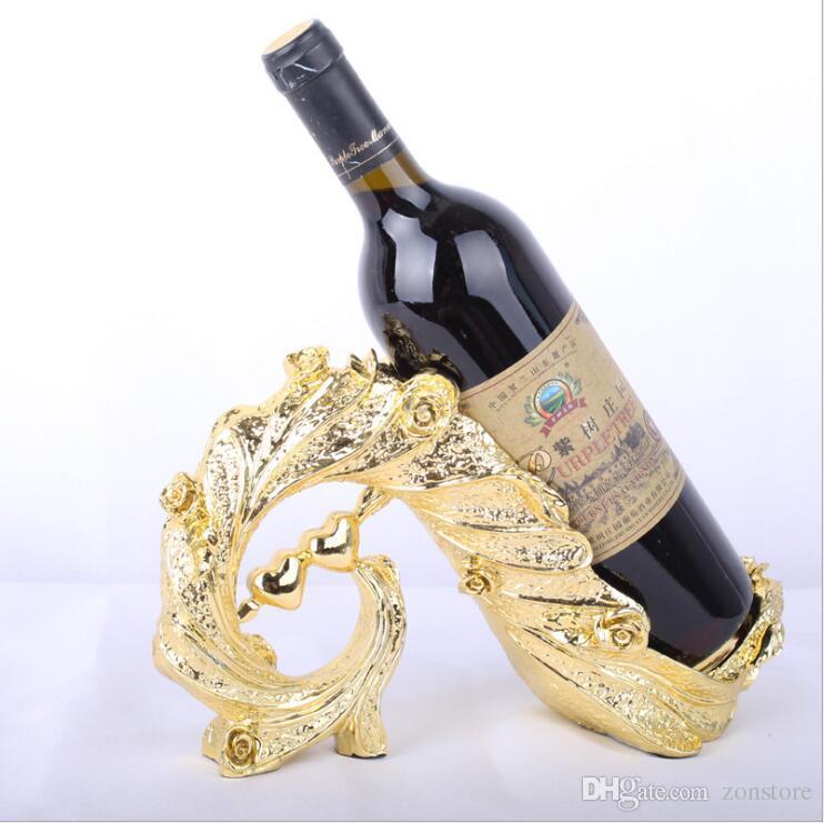 النبيذ الرف زجاجة حامل التخزين عاشق هدية حفل زفاف ديكور حلية هدية النبيذ الرف المنزل اكسسوارات الديكور