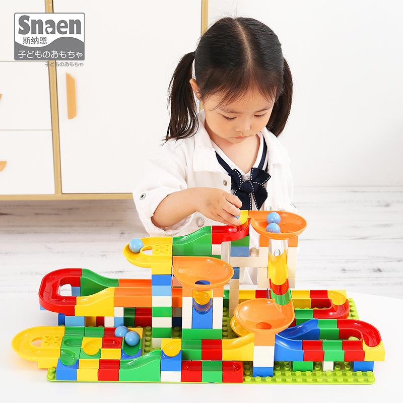 2019 Children S Large Particle Assembly Slides Spell Puzzle Boy