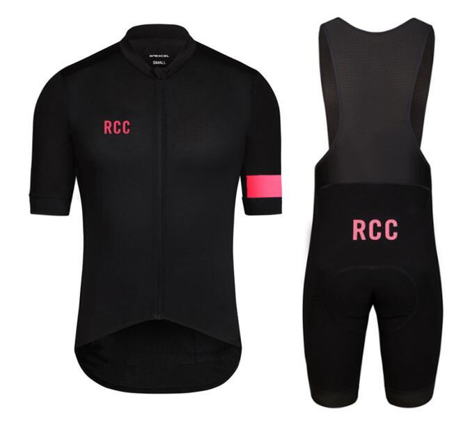 3b6208e719 HOT RCC Black Pink Pro Team Short Sleeve Cycling Jersey Summer Cycling Wear  Ropa Ciclismo +Bib Shorts 4D Gel Pad Set Mtb Clothing Winter Cycling Gear  From ...