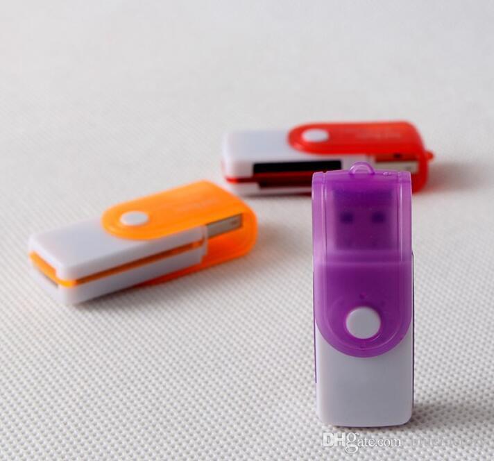 Mini Micro SD TF M2 MS Girar Câmera SD Memory Stick M2 MINI SD Leitor De Cartão Girando Dentro USB 2.0 Multi Cartões Em 1