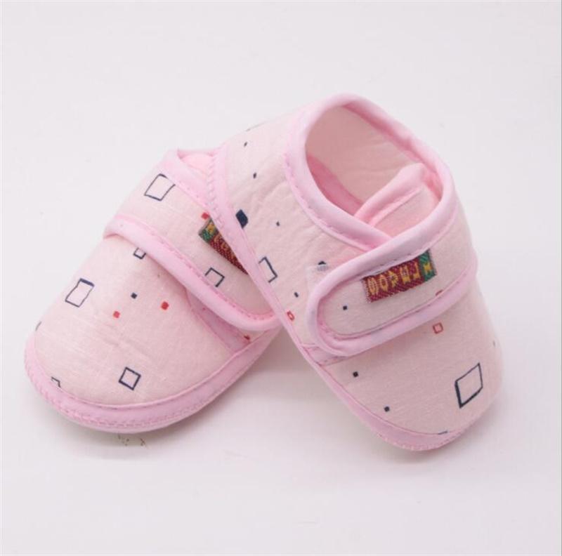 3acdbbf315a71 Acheter Nouveau Né Bébé Fille Chaussures Princesse Rose Bleu Doux Coton  Toddler Crib Infant Petit Enfant Sole Slip On Premier Marcheur De  2.21 Du  ...