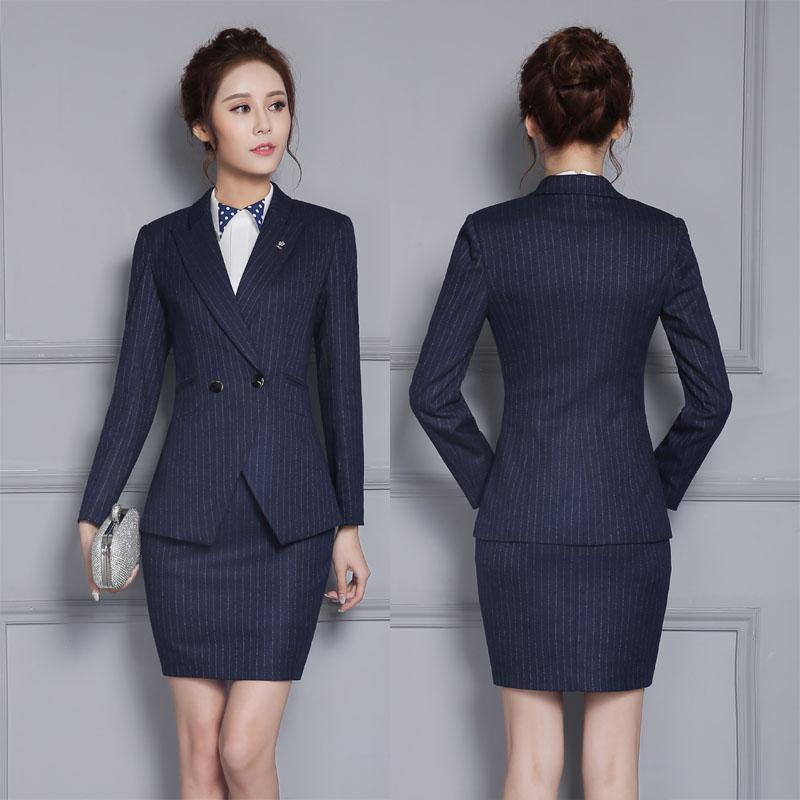 7a5491e59c281 2019 New Professional Work Uniform Design Suits With Jackets And Skirt For Business  Women Slim Fashion Office Uniforms Blazers From Keviny, $70.42 | DHgate.