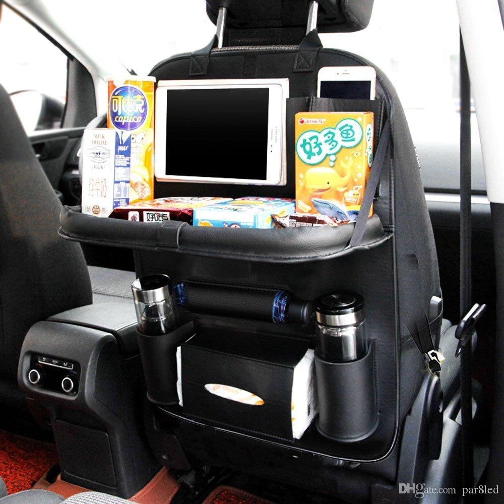 Car Backseat Organizer PU Leather Auto Back Seat For Kids Toy Bottles Storage With Foldable Dining Table Holder Pocket Online